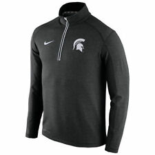 NIKE MICHIGAN SPARTANS GAME DAY PERFORMANCE 1/2 ZIP DRIFIT KNIT TOP MENS SMALL