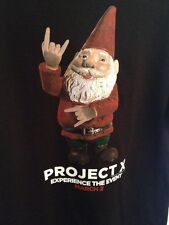 Black GNOME promo T Shirt PROJECT X  med MONSTER HOUSE PARTY EPIC MOVIE EVENT