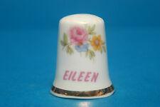 Girl's Name 'Eileen' China Thimble B/93