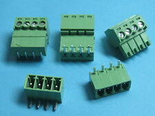 10 pcs Pitch 3.5mm Angle 4way/pin Screw Terminal Block Connector Pluggable Type