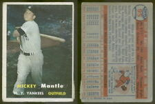 (7140) 1957 Topps 95 Mickey Mantle Yankees-VG