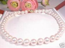 LUXUS 10mm Perlenkette 585er/14K Gelbgold Schliesse (H5G)