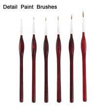 Pro Extra Fine Detail Paint Brushes Set of 6 Artist Miniatures Model Maker Tool