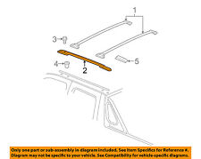 Chevrolet GM OEM Avalanche Roof Rack Luggage Carrier-Side Rail Right 25857421