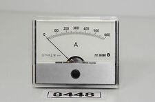AMS 751.00580 Ampermeter 0-600 A, Anzeigegerät Einbaumessgerät, 65x80mm *8448*