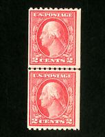 US Stamps # 442 F-VF Line pair OG NH Scott Value $130.00