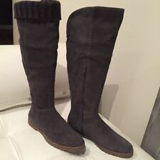 Suede Pull On Knee High Boots Casual Shoes for Women