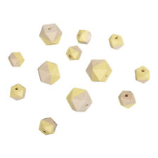 Beads Wood With Facets Yellow - Rayher
