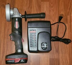 MINT Craftsman C3 19.2v Cordless Angle Grinder w Strong Li-Ion Battery & Charger