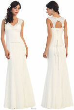 SLEEVELESS FITTED EVENING GOWN PROM DANCE LACE FORMAL DRESSES SPECIAL OCCASION