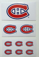Montreal Canadiens Sticker Decal Lot NHL 9 Stickers New Official Licensed