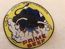 1981 Usaf Civil Engineering Prime Beef 4� Sticker