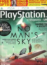 PLAYSTATION UK 121 April 2016 PS4 PS3 15 free play games +Free Gifts HITMAN Mag