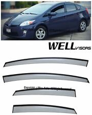 For 10-15 Toyota Prius WellVisors Clip On Smoked Side Window Visors Deflectors
