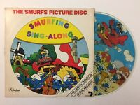 Smurfs Picture Disc Smurfing Sing Along Picture Disc Vinyl LP Record 1982 Peyo