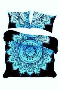 Flower Cotton Comforter Hippie Duvet Indian Art Quilt Cover Beautiful Design Art