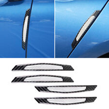 Pure White Reflective Car Side Door Edge Protection Guards Trim Stickers