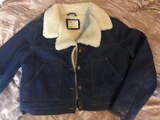 ASOS Denim Cropped Teddy Bear Jacket/coat Uk Size 12