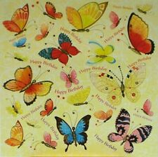 Postcard Art Card Butterfly Happy Birthday Glitter Square Card