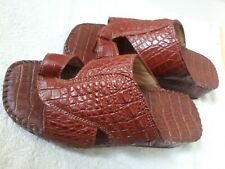 BROWN Men's Sandals Genuine Crocodile Alligator Leather - Available for any size