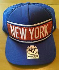 New York Knicks '47 Womens NBA Captain Trucker Snapback Bling Cap NWT
