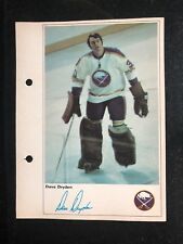 DAVE DRYDEN 1971-72 TORONTO SUN NHL ACTION PHOTO - BUFFALO SABRES