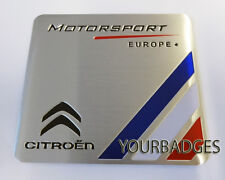 NEW Sheet Aluminium Citroen Motorsport Europe Car Badge C1 C3
