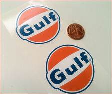 GULF OIL LOGO 2x 60mm Sticker Decal Vintage Retro Rally Car