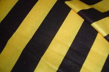 """NEW Craft Velour Fabric Yellow Gold & Black wide Stripe 44"""" wide"""
