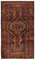 "Hand-knotted Carpet 3'11"" x 6'9"" Traditional Vintage Wool Rug...DISCOUNTED!"