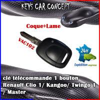 CLE POUR RENAULT Kangoo Clio 1 Twingo 1 Master DE VOITURE TELECOMMANDE VAC102
