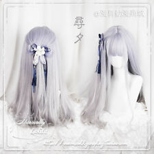 Purple Gradient Long Curly Hair Fairy Cosplay Wig Sweet Lolita Japan Harajuku #F