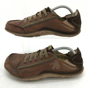 Cushe Surf Slipper Kick Sneakers Mens 10 Brown Leather Low Top Comfort Shoes