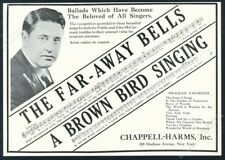 1927 John McCormack photo Chappell-Harms music publishing vintage trade print ad