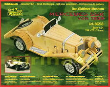 "3D-Puzzle ""Mercedes SSK"" v.1939 Modellbausatz 1:24 Holz 18,4 x 7,7 x 7cm ab 8 J."