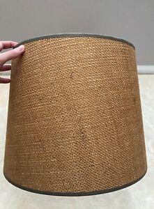 Burlap Lamp Shade 11 1/8 Inch Natural Burlap Mid-Century Modern Vintage