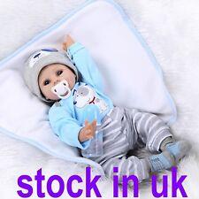 "UK 22"" Reborn Doll Handmade Blue Eyes Boy Realistic Newborn Baby Child Toy Dolls"