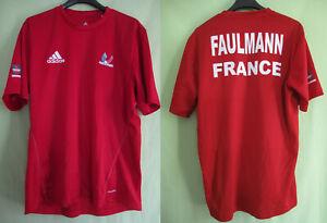 Maillot Badminton Equipe de France Adidas Porté Faulmann Femme Vintage - M