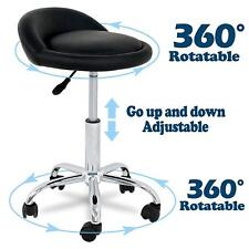 Adjustable Height Hydraulic Rolling Swivel Stool Tattoo Massage Salon Chair
