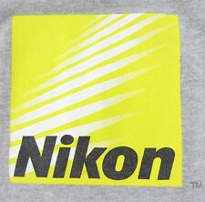 Mens Nikon CoolPix Short Sleeve Gray T-Shirt Ringer Size XL Digital Camera