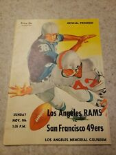 Los Angeles Rams v San Francisco 49ers Program Nov. 9th 1958