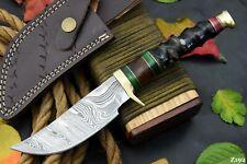 Custom Damascus Steel Hunting Knife Handmade With Impala Horn Handle (Z192)