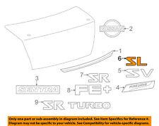 NISSAN OEM 13-18 Sentra Trunk Lid-Emblem Badge Nameplate 848953SH8A