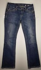 Miss me Jeans Sz 28x34 Blings Studs Distressed Low Rise Boot Cut Denim Womens