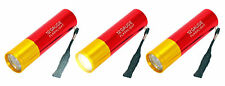 12 Gauge Shotgun Shell 9 Bulb LED Flashlight 3 Pack w/ Lanyard Battery Light