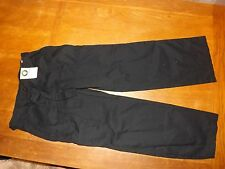 Ladies Black 100% Cotton Cargo Trousers Size 10 Short (£12.50) New