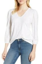 Lucky Brand Eyelet Peasant Top (Lucky White) Women's Clothing Large