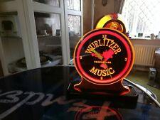 Wurlitzer music light up table display clock