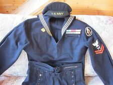 "WW2 U. S. NAVY ENLISTED MAN'S UNIFORM  ""SEABEES""  LOOK!"