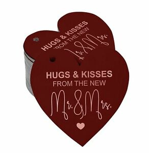 Real Foil Bottle Tag Hugs & Kisses From The Wedding Craft Tags-SH4_2BG